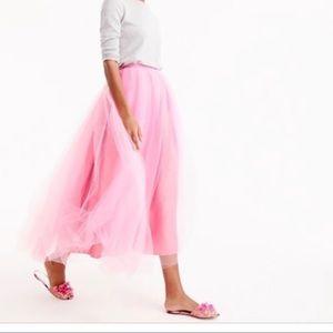 J. Crew pink tulle skirt